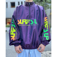 "90s ""SURF'S UP"" nylon pullover jacket"