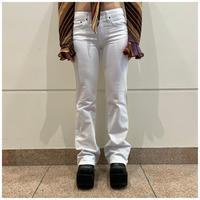 90s white denim semi flare pants