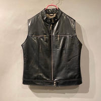 fake leather vest