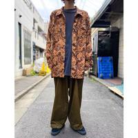 paisley pattern zip up shirt