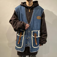 80s〜90s oversized denim vest