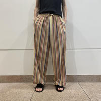 90s~ striped easy poly pants