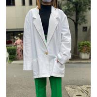 90s  design easy tailored jacket (white)