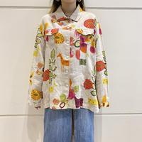 "90s〜 ""CHICO'S"" linen design shirt jacket"