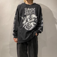 "90s ""NEPALM DEATH"" printed L/S cut sew"