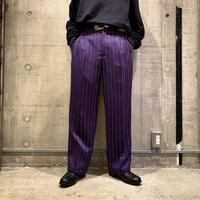90s〜striped wide slacks pants (DEADSTOCK)