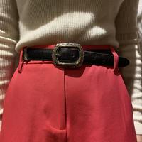 Western design leather belt