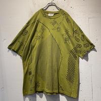 80s〜 paint design T-shirt