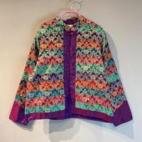 90s flower patterned shirt jacket