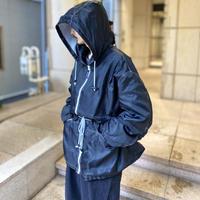 90s oversized nylon design jacket