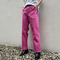 00s pink color stretch pants