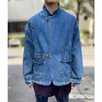 80s denim tailored jacket