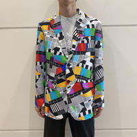 90s all patterned tailored jacket