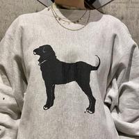 "90s ""THE BLACK DOG"" sweat shirt"