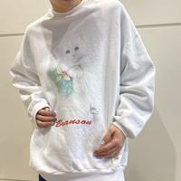 90s cat printed sweat shirt