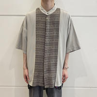 90s~ design band collar shirt