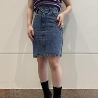 90s~ design denim mini-skirt