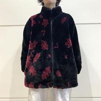 90s~ zip up fake fur jacket