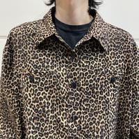 oversized L/S leopard pattern shirt