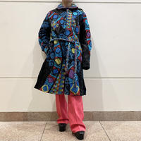 90s native pattern long coat