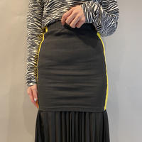 bi-color tight mini skirt