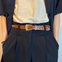 """BRIGHTON"" design leather belt"