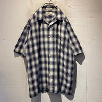 oversized shadow checked S/S shirt
