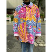 "80s ""MICHIGAN RAG"" all pattern jacket"