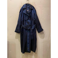 shiny long trench coat