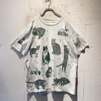 90s cats printed tee