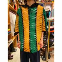 mesh design summer knit pullover