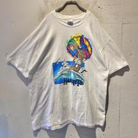 90s giraffe printed T-shirt