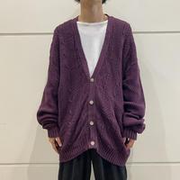 90s oversized cotton knit cardigan