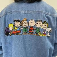 "90s ""PEANUTS"" design denim shirt"
