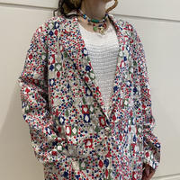 80s~ all patterned easy tailored jacket