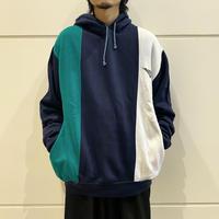 "90s ""PONY"" design hooded sweat shirt"