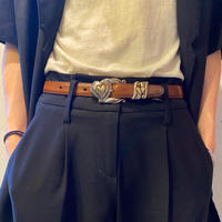 "90s ""BRIGHTON"" heart buckle belt"