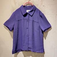 mesh design S/S shirt