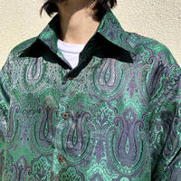 90s L/S shiny all patterned shirt