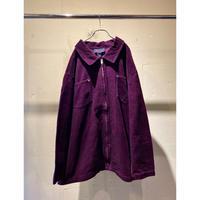 90s〜corduroy zip up shirt (PPL)
