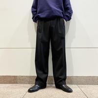 90s 2tucks slacks pants(BLK)