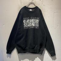90s animal printed sweat shirt