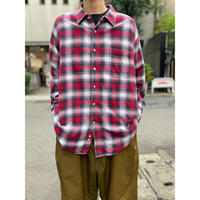 oversized L/S flannel shirt(RED)