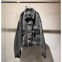 80s〜short & wide chemical denim jacket