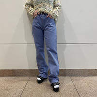 old houndstooth patterned semi-flare pants