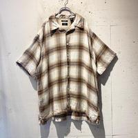 oversized block check S/S shirt