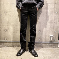 slim straight velours pants