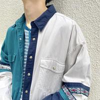 """90s """"Wrangler"""" design western L/S shirt"""