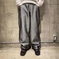 90s coating denim wide pants