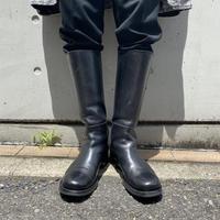 """PRADA"" leather long boots"